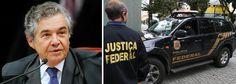 """Já se festeja o fim da impunidade, diz ministro do Supremo. """"O ministro do STF (Supremo Tribunal Federal) Marco Aurélio Mello afirmou que os desdobramentos das investigações do esquema de corrupção mostram que agora """"o crime [age] no atacado, não mais no varejo"""" como no escândalo do mensalão. Mas ressaltou que a nova prisão de José Dirceu afasta a sensação de impunidade que existia no Brasil."""""""