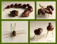 Kaštanová zvířátka a podzimní tvoření s dětmi - Budilka.cz Bobby Pins, Hair Accessories, Pine Cones, Hairpin, Hair Accessory, Hair Pins, Pine Cone
