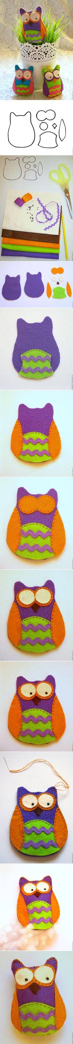 Artes com Capricho: Coruja de tecido-PAP