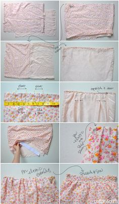 omg these are adorable. DIY Pleated High waisted shorts!