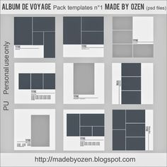 Made by Ozen: Album de voyage - pack de templates ? Profolio Design, Layout Design, Design De Configuration, Design Portfolio Layout, Graphic Design Layouts, Design Portfolios, Layout Cv, Student Portfolios, Portfolio D'architecture
