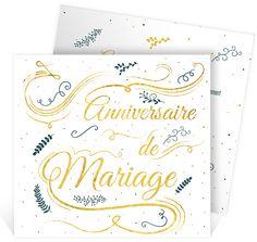 Invitation anniversaire de mariage raffinée et élégante pour 40 ans