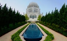 Devotional Services: 9:15 AM and 12:30 PM Spanish services, first Sunday of each month at 1:15 PM Presentation on the Bahá'í​ Faith every Sunday at 1:00 PM Temple and Gardens Hours  Open every day from 6:00 AM-10:00 PM Welcome Center Hours May 15 - September 15, 10:00 AM-8:00 PM