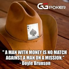 Some motivating words for your Monday from poker legend Doyle Brunson. Hang in there. Doyle Brunson, Monday Motivation, Poker, Blessings, Words, Instagram Posts, Horse