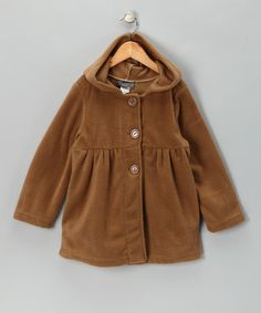 Take a look at this Taupe Polar Fleece Jacket - Girls by Giovanni on #zulily today!