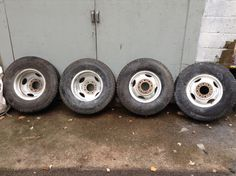 Tow truck wheels ready for paint