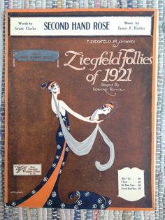 1921 SECOND HAND ROSE Ziegfeld Follies of 1921 Sung by FANNY BRICE Sheet Music