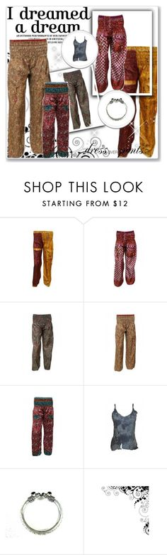 """""""Printed Hip-Hop Hippie Yoga Pants"""" by era-chandok ❤ liked on Polyvore"""