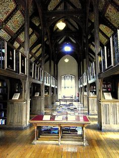 mansfield college library at oxford.... studied here almost every day <3
