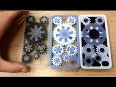 These personalized iPhone cases, designed by Danny Tasmakis (http://grabcad.com/danny.tasmakis) were 3D printed on an Objet Connex multi-material 3D printer and feature moving inter-locking gear wheels! This is the only 3D printer of its kind in the world able to create complex assemblies made of mo...