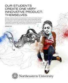 – Northeastern University by Gabriel Moreno's Illustrations
