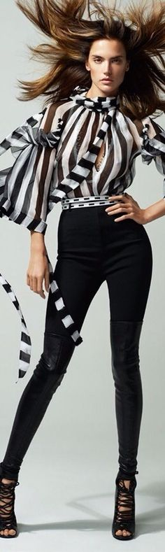 FashionChic | RosamariaGFrangini || Alessandra Ambrosio in Black & White