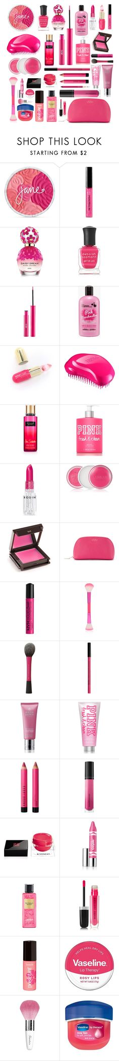 """Pink Random Makup"" by queencourtney16 ❤ liked on Polyvore featuring beauty, Bobbi Brown Cosmetics, Marc Jacobs, Deborah Lippmann, Sigma, Winky Lux, Forever 21, Victoria's Secret, Rodin and Clinique"