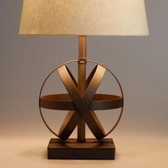 Good for either downstairs or up; One of my favorite discoveries at WorldMarket.com: Metal Orb Accent Lamp Base