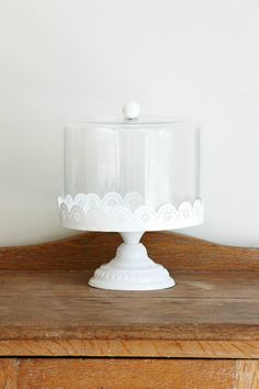 Lace & Glass Cake Stand