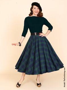 1950s Circle Skirt Blackwatch Tartan from Vivien of Holloway