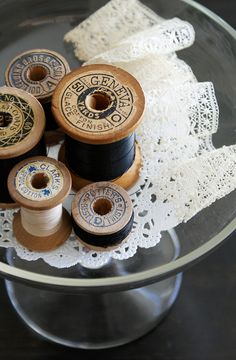 Spools and lace