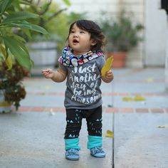 Baby and toddler leggings Little Liv, never loose your curiosity. Here she is looking fabulous in our Scandanavian Geo Grow With Me Leggings. Shop link in bio, tap for outfit details!