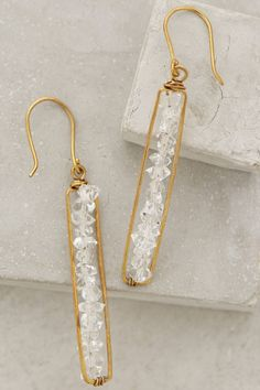 Herkimer Matchstick Earrings - anthropologie.com