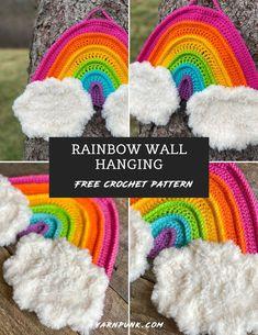 Easy Knitting Patterns, Loom Knitting, Knitting Projects, Crochet Crafts, Free Crochet, Crochet Ideas, Crochet Wall Art, Easy Amigurumi Pattern, Big Yarn