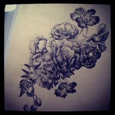 Tonal study for Justins flowers (Taken with Instagram)