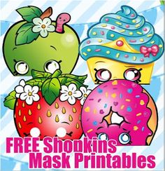 FREE Shopkins Masks Birthday Party Printable Files