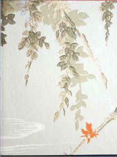 """Authentic 1930s wallpaper pattern from """"Papiers-tentures : nouveautes 1930.."""""""