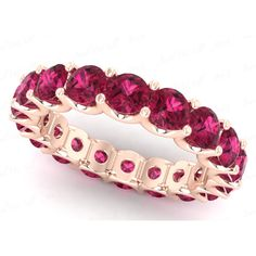 Total Stone Count - Diamond carat weights represent the approximate total weight of all diamonds in each setting and may vary no more than. Ruby Eternity Ring, Eternity Bands, Solitaire Diamond, Ruby Jewelry, Jewelry Watches, Anniversary Rings, Wedding Anniversary, Best Diamond, Pretty Rings