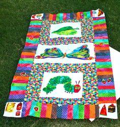 So cute! Very Hungry Caterpillar quilt.