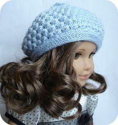 Rosamund Beret ~ PDF knitting pattern for 18 inch American Girl dolls