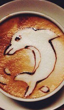 Dolphin Latte Art →follow← my board ♡ͦ* ¢σffєє σвѕєѕѕє∂ ♡ͦ* @ ★☆Danielle ✶ Beasy☆★