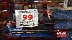 Who: Senator Debbie Stabenow (D-Michigan)  When: June 2016  What: U.S. Supreme Court  Watch on C-SPAN  Read Congressional Record