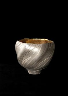 Silver Tea Bowl with Gold Lining by Tetsuya Ishiyama, Japan