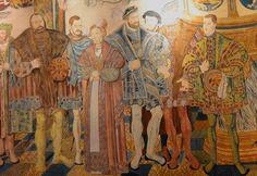 Detail from the Croy tapestry with portraits of the Ducal family of Saxony and Pomerania,1554-56 Euroopan Historia, Kuvanveisto, Historia, Kankaat, Saksan Kieli