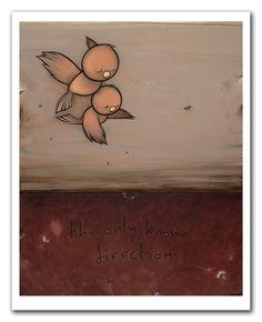 is the direction that we go - Kurt Halsey Kurt Halsey, Bird Embroidery, Character Drawing, Love Art, Amazing Art, Art Drawings, Street Art, Illustration Art, Doodles