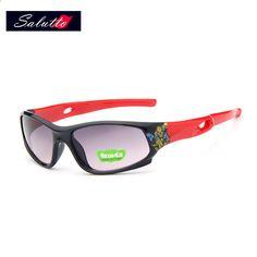 2018 SALUTTO Mode Sport Barn Solglasögon Barn Sommarglasögon Polariserade  UV400 Glasögon Säkerhet Märke Glasögon för Pojkar Gilrs 794be0c073130