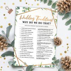 Wedding Traditions, Bridal Shower Games Printable, Bridal Shower Game Idea, Bridal Shower Instant Download, Wedding Game, Bridal Shower Game