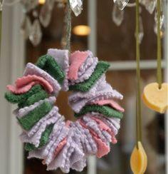 Easy Scrap Wreath Ornament Craft | AllFreeChristmasCrafts.com