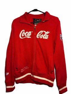 7f807d56ff9 2010 Vancouver Olympics Coca Cola Recycled Bottles Red Sweatshirt Size M  RARE