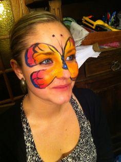 Modèles de maquillages papillons | Lud'éveil Maquillages artistiques maquillages enfants princesses papillons animaux oiseaux clowns pirates sorcières momies monstres félins tigres jaguars pumas supers héros supporters drapeaux chats hello kitty spiderman batman