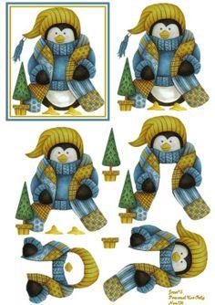 Penguin With Scarf 3D Sheet Photo by spyrocatgirl | Photobucket