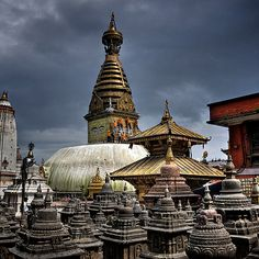 Swayambhu Temple  ( also popular as Monkey Temple ) at Kathmandu Valley