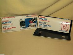 COLECO QUIZ WIZ CARTRIDGE 14 HOW THINGS WORK 1980 2086 1001 QUESTIONS COVER #Coleco