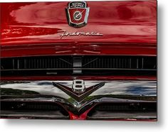 1956 Ford F-100 Metal Print featuring the photograph Fordomatic by Marnie Patchett