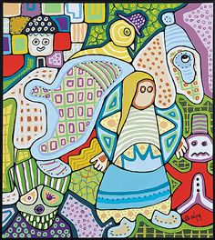 "Daphne Odjig, Inuit artist, ""My Patchwork Quilt"" (1998)"