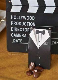 Creative Oscars Party Ideas + Film Reel Cupcakes - Tux Choc