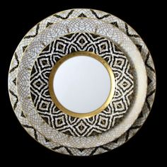R. Haviland and C. Parlon distributed by Mottahedeh Farahanaz Black or White Dinner Pattern |Pinned from PinTo for iPad|
