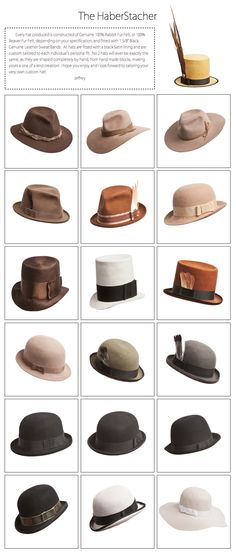 Men's Hat Variations #men #hat #fashion