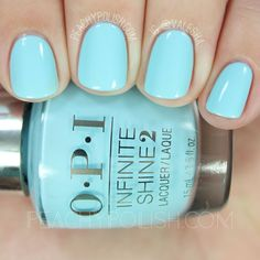 OPI I Believe In Manicures | Infinite Shine Breakfast At Tiffany's Collection | Peachy Polish