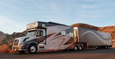 Landstar-leased Jon and Miriam Brown's team operation and 2012 Volvo converted by Showhauler Motorhome Conversions the first featured business in Volvo's Rv Truck, Volvo Trucks, Big Rig Trucks, Semi Trucks, Diesel Trucks, Rv Motorhomes, Luxury Motorhomes, Motorhome Conversions, Expedition Truck
